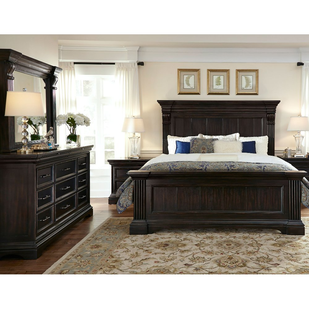 Wonderful Molasses Classic Traditional 6 Piece King Bedroom Set   Caldwell | RC Willey  Furniture Store