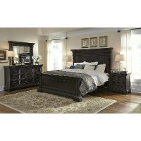 Traditional Dark Brown 4 Piece King Bedroom Set - Caldwell