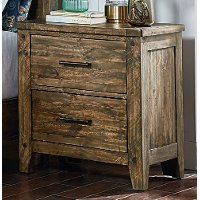 Rustic Casual Pine Nightstand - Nelson