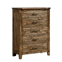 Rustic Casual Pine Chest of Drawers - Nelson