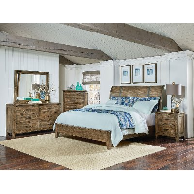 rustic queen bedroom sets. Rustic Casual Pine 6 Piece Queen Bedroom Set  Nelson RC Willey