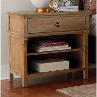 Rustic Casual Toffee Brown Nightstand - Savannah