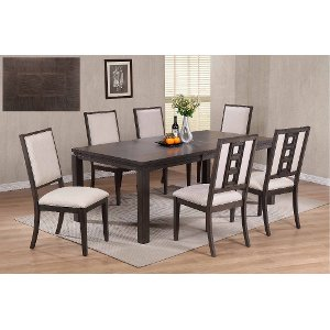 gray 5 piece contemporary dining set hartford - Contemporary Dining Room Furniture