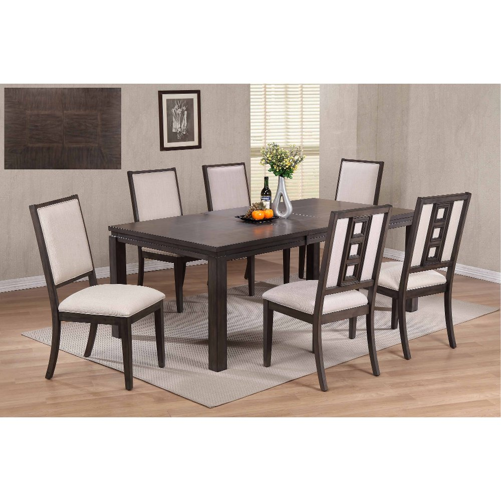 Gray 5 piece contemporary dining set hartford rc willey furniture store