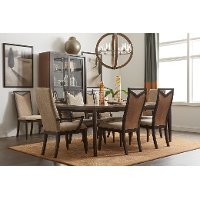 Chocolate two tone 5 piece dining set urban rhythm for Lcjs furniture