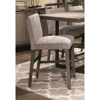 Gray Upholstered Counter Stool - Polo