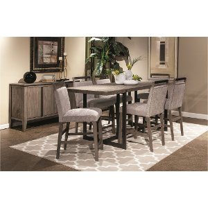 ... Weathered Gray Contemporary 5 Piece Counter Height Dining Set   Polo ...