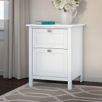 Pure White 2 Drawer File Cabinet - Broadview