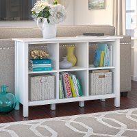 Pure White 6 Cube Storage Bookcase - Broadview