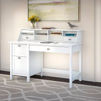 Computer Desk with 2 Drawer Pedestal and Organizer - Broadview
