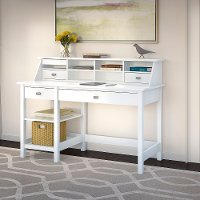 Computer Desk with Open Storage and Desktop Organizer - Broadview