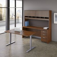 48W x 30D Cherry Height Adjustable Standing Desk