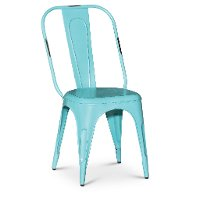 Clearance Turquoise Blue Dining Chair - Iron