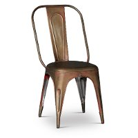 Clearance Rust Metal Dining Chair - Iron
