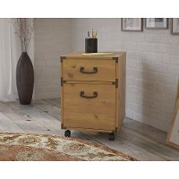 Kathy Ireland® Golden Pine 2-Drawer Mobile Cabinet - Ironworks