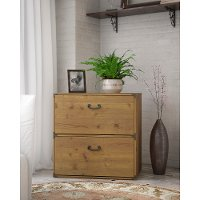 Golden Pine 2 Drawer Lateral File Cabinet - Ironworks