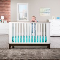 F34101.84 Matte White/ Slate 4-in-1 Convertible Crib - Studio
