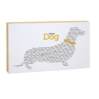 Yellow, Black and White Haute Dog Canvas Wall Art