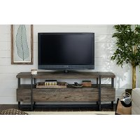 66 Inch Rustic Brown TV Stand - Modern Timber