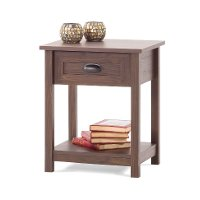 F01928.47 Rich Walnut 1- Drawer Night Stand - Abbott