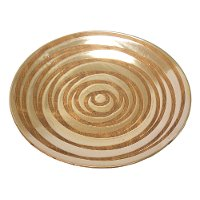 Tan Swirl Decorative Plate