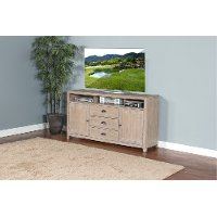 66 Inch Casual Rustic Gray Tv Stand Mountain Ash Rc Willey Furniture Store
