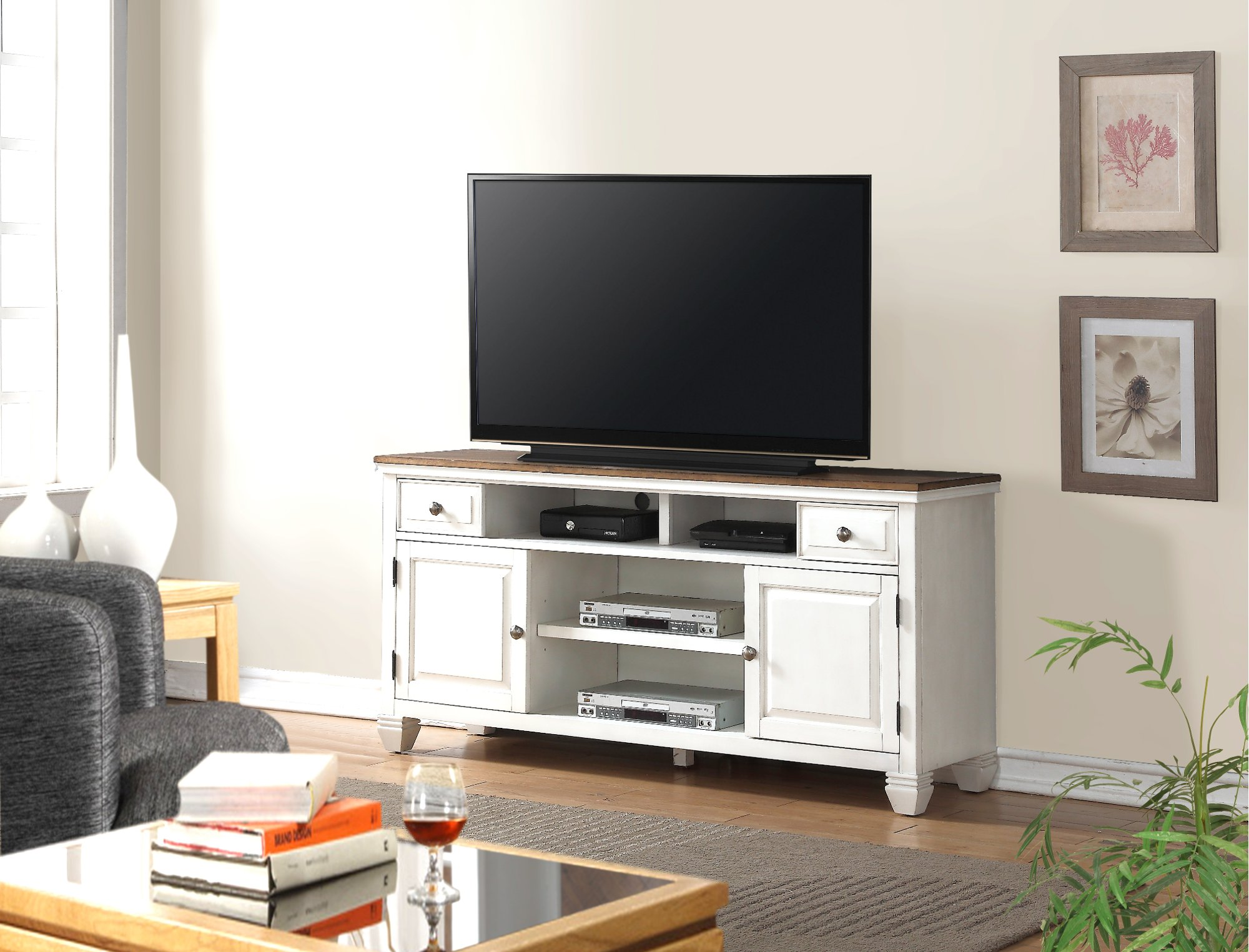media cabinets harbor item tv stand additional video oak storage stands living centers view levin salt furniture product room cottage