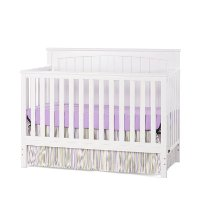 F33401.46 Matte White 4-in-1 Convertible Crib - Sheldon