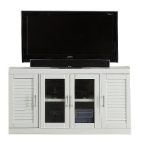 56 Inch Modern White TV Stand - Catalina