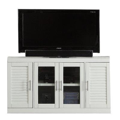 56 Inch White TV Stand - Catalina