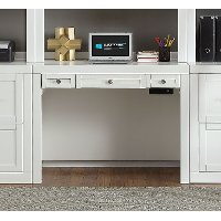 40 Inch Modern White Writing Desk - Catalina
