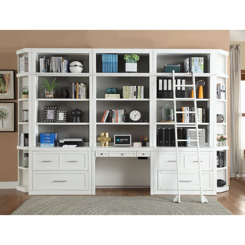 Modern White Writing Desk And Hutch Catalina Rc Willey Furniture