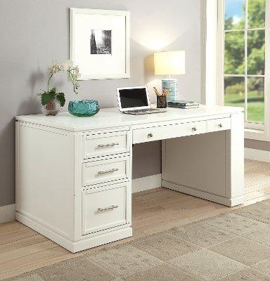 Custom White Computer Desk Decorating Ideas