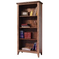 Rustic Multicolor Pine Bookcase - Antique