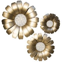 15 Inch Metal Wall Flower