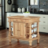 Natural Maple Kitchen Island - Americana