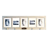 Gray Wooden 5 Picture Frame Collage with 4 Knobs