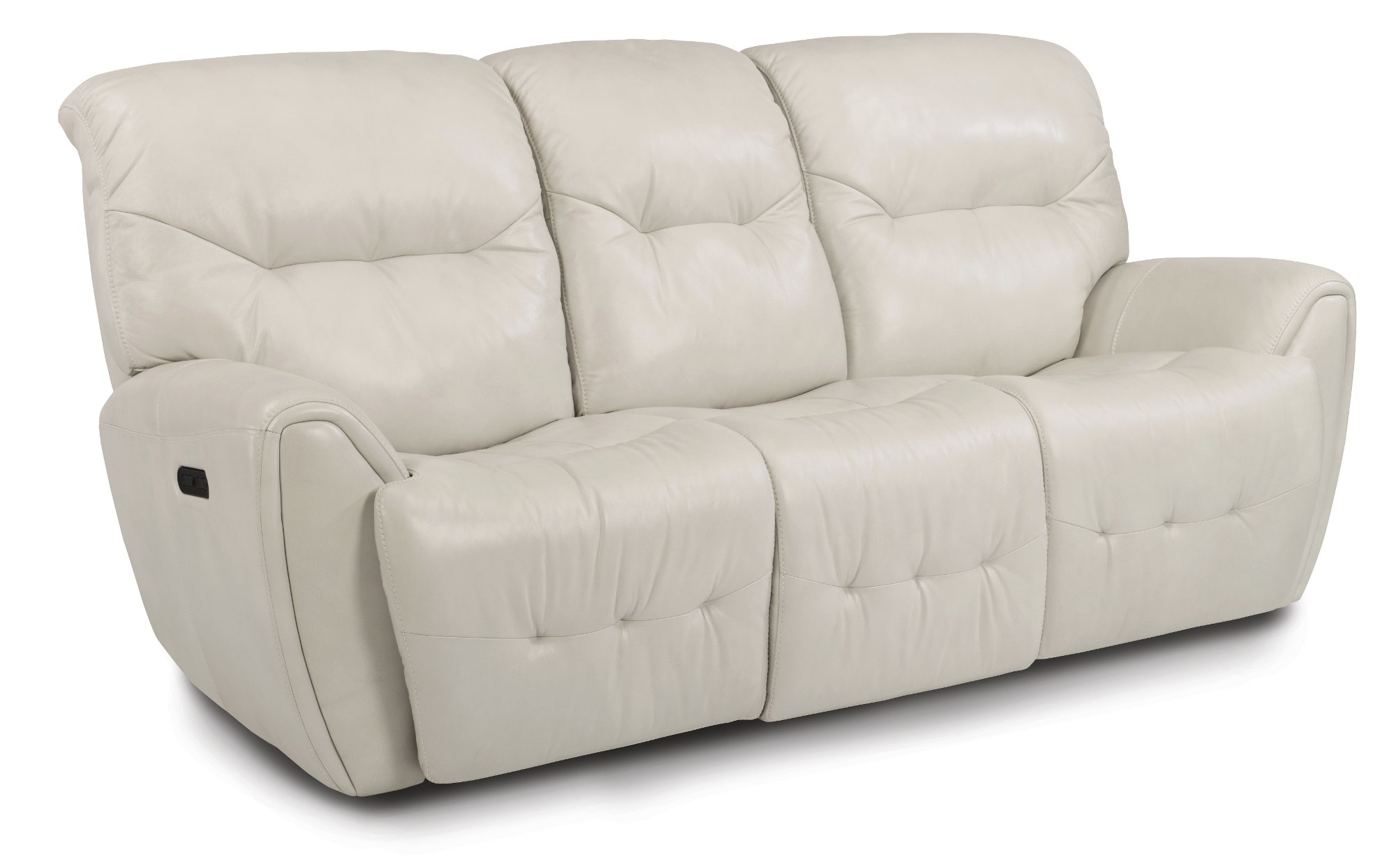 Icelandic White Leather Match Power Sofa Loveseat Blaise Rc Willey Furniture Store