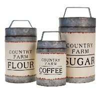 7 Inch Coffee Metal Lidded Canister