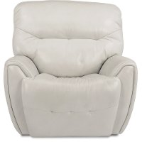 Icelandic White Leather-Match Power Glider Recliner - Blaise