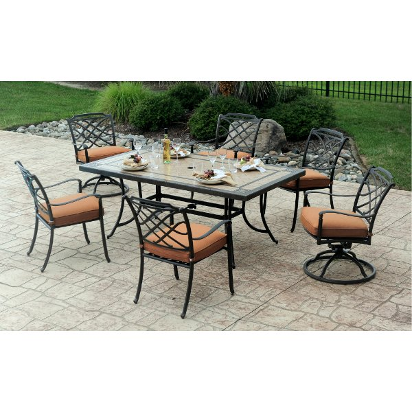 Incroyable ... 7 Piece Patio Dining Set With 6 Swivel Chairs   Willowbrook