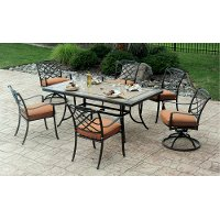 Willowbrook Collection 7 Piece Patio Dining Set with 6 Swivel Chairs