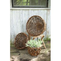 14 Inch Brown Open Weave Basket
