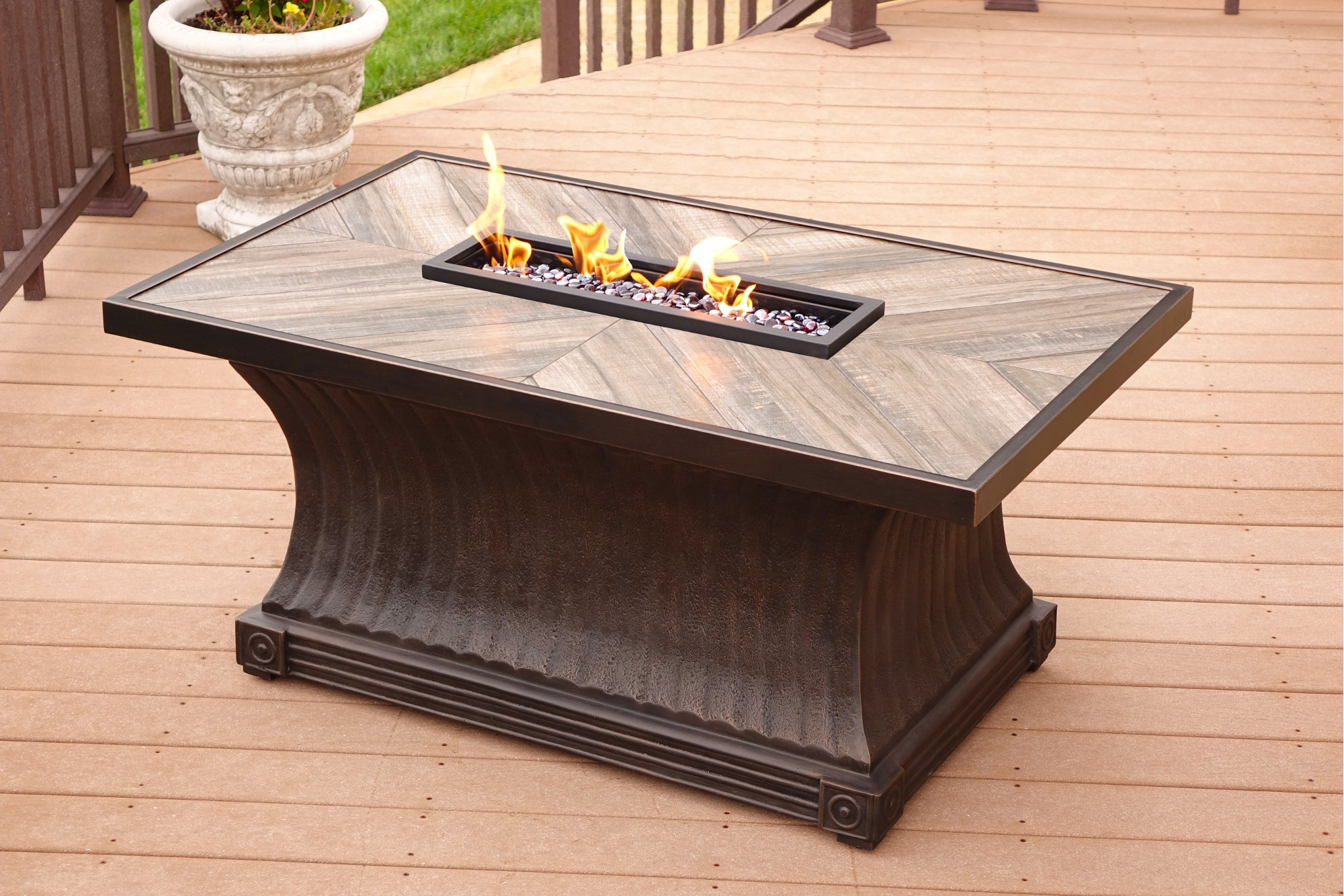 5 Piece Outdoor Patio Fire Pit Chat Set Arlo
