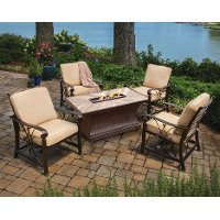 5 Piece Outdoor Patio Fire Pit Patio Set - Arlo