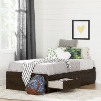 10282 Twin Brown Oak Mates Bed with 3 Drawers (39 Inch) - Fynn