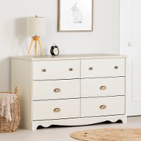10298 White Wash 6-Drawer Double Dresser - Caravell