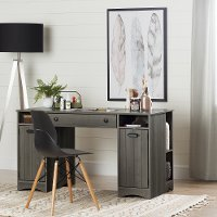 10545 Gray Maple Craft Table with Storage - Artwork