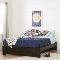 10520 Brown Oak Queen Platform Bed (60 Inch) - Flexible