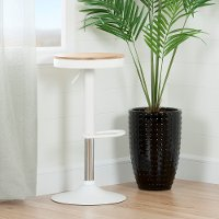 100178 White Adjustable Metal Stool - Crea